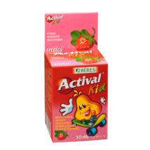 BÉRES ACTIVAL KID rágótabletta eper ízű 30 db