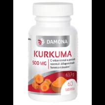 DAMONA Kurkuma 500 mg tabletta 60 db
