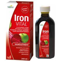 HÜBNER Iron Vital F Vas+Vitaminok folyékony étrend-kiegészítő 250 ml