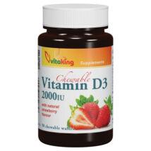 VITAKING D3-Vitamin 2000 NE Epres Rágótabletta 90 db