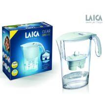 LAICA Clear Line vízszűrőkancsó átlátszó fehér + 1 db Bi-flux univerzális szűrőbetét