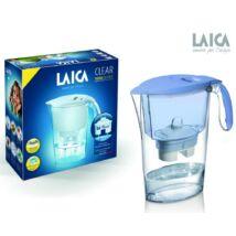 LAICA Clear Line vízszűrőkancsó kék + 1 db Bi-flux univerzális szűrőbetét