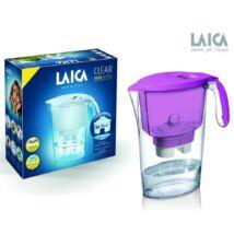 LAICA Clear Line vízszűrőkancsó lila + 1 db Bi-flux univerzális szűrőbetét