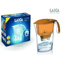 LAICA Clear Line vízszűrőkancsó narancssrága + 1 db Bi-flux univerzális szűrőbetét