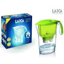 LAICA Clear Line vízszűrőkancsó zöld + 1 db Bi-flux univerzális szűrőbetét