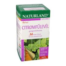 NATURLAND Citromfűlevél tea 25 filter