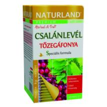 NATURLAND Prémium Csalánlevél és Tőzegáfonya tea 20 filter