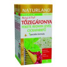 NATURLAND Prémium Tőzegáfonya-Fekete áfonya levél-cickafarkfű tea 20 filter