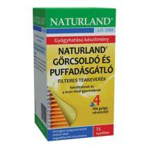 NATURLAND Görcsoldó és puffadásgátló tea 25 filter