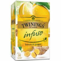 TWININGS Citrom és Gyömbér Herbatea 20 filter