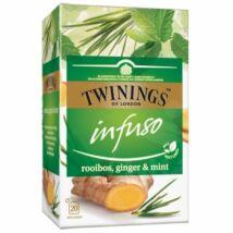 TWININGS Rooibos Herbatea Gyömbérrel és Fodormentával 20 filter