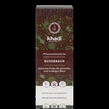 KHADI Növényi hajfesték por természetes mogyoróbarna 100 g
