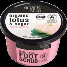 Organic Shop Édes lótuszvirág lábradír bio lótusszal és cukorral 250 ml