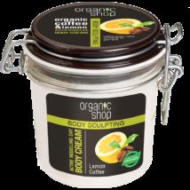Organic Shop Frissítő kávé testformáló krém bio kávé és citrom kivonattal 350 ml