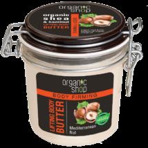 Organic Shop Mediterrán mogyoró bőrfeszesítő testvaj bio sheavaj és mogyoró kivonattal 350 ml