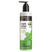 Organic Shop Menta eső frissítő tusfürdő bio menta és citromfű kivonattal 280 ml