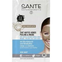 SANTE 2in1 kávés-kókuszos arcradír és arcmaszk 8 ml