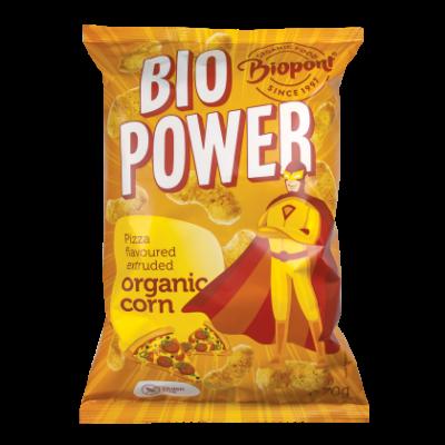 BIOPONT Bio Power Extrudált kukorica pizza ízesítésű 70 g
