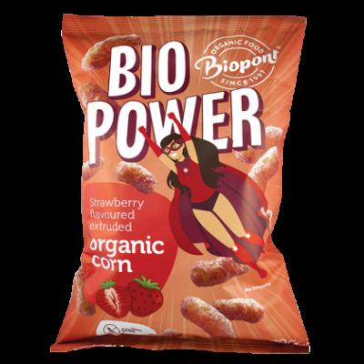 BIPONT Bio Extrudált kukorica valódi eperporral 70 g
