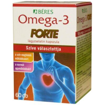 BÉRES Omega-3 Forte lágyzselatin kapszula 60 db