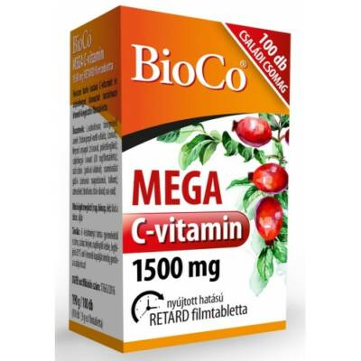 BIOCO Mega C-vitamin 1500 mg tabletta 100 db