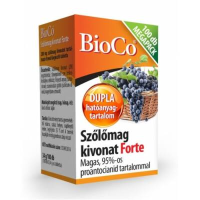 BIOCO Szőlőmag Kivonat Forte Megapack 100 db
