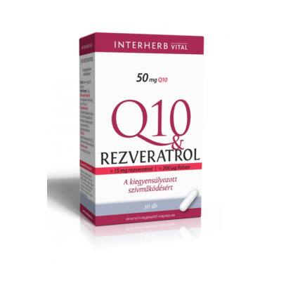 INTERHERB Q10 Rezveratrol kapszula 30 db