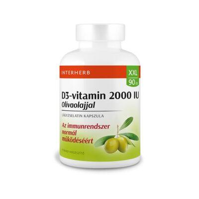INTERHERB XXL D3-Vitamin 2000 IU Olíva olajjal kapszula 90 db