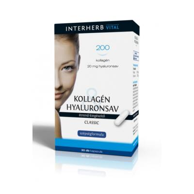 INTERHERB Kollagén&Hyaluronsav Classic kapszula 30 db