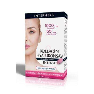 INTERHERB Kollagén-Hyaluronsav Intense tabletta 30 db