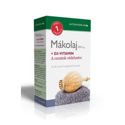 INTERHERB Mákolaj + D3 kapszula 30 db