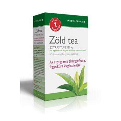 INTERHERB Zöld tea extraktum kapszula 30 db