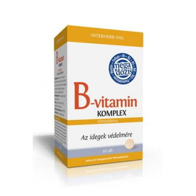 INTERHERB B-vitamin komplex tabletta 60 db