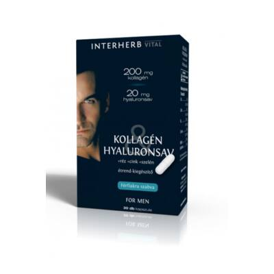 INTERHERB Kollagén&Hyaluronsav for Man kapszula 30 db