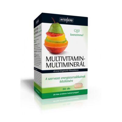 INTERHERB Multivitamin - Multimineral tabletta 30 db