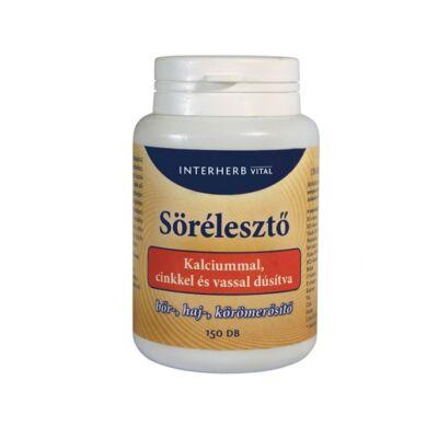 INTERHERB Sörélesztő kalciummal tabletta 150 db