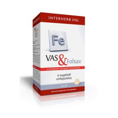 INTERHERB Vas+Folsav tabletta 60 db