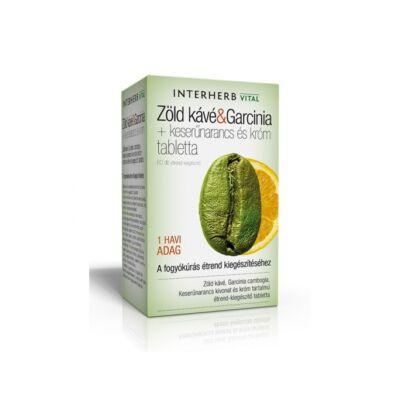 INTERHERB Zöld kávé & Garcinia tabletta 60 db