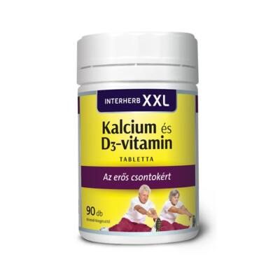 INTERHERB XXL Kalcium és D3-vitamin tabletta 90 db