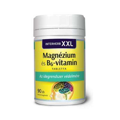 INTERHERB XXL Magnézium és B6-vitamin tabletta 90 db