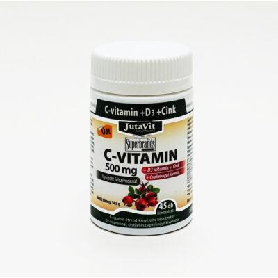 JUTAVIT C-vitamin 500 mg+Csipkebogyó+D3+Cink 45 db