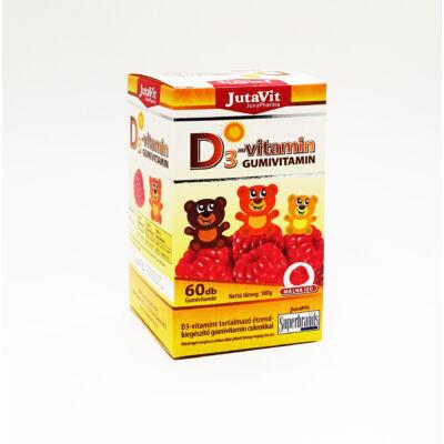 JUTAVIT D3-Gumivitamin málna ízű 60 db