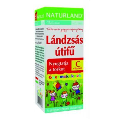 NATURLAND Lándzsás útifű szirup C-vitaminnal gyerekeknek 150 ml