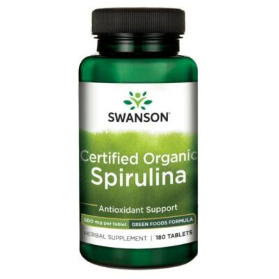 SWANSON Spirulina tabletta 180 db