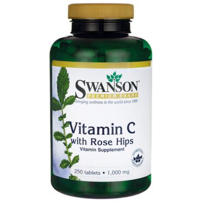 SWANSON C-Vitamin 1000 mg, csipkebogyóval 90 db