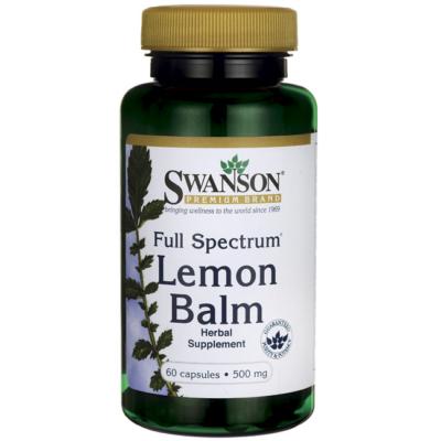 SWANSON Lemon Balm citromfűlevél kapszula 60 db