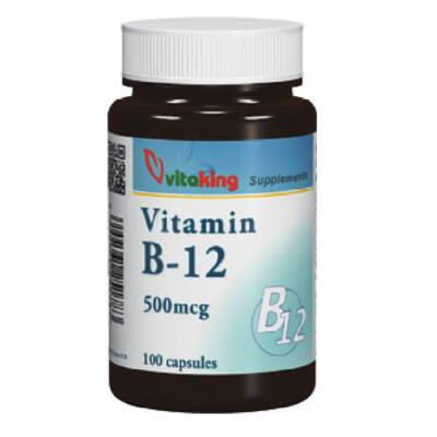 VITAKING B-12 Vitamin Kapszula 500 mg, 100 db