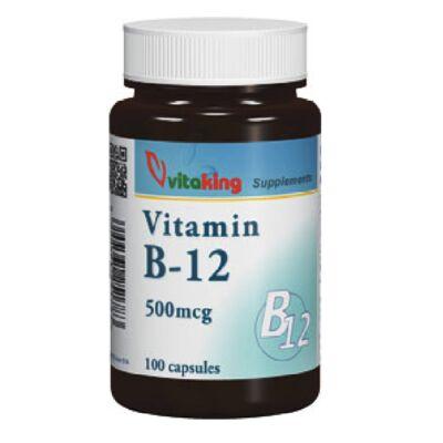 VITAKING B-12 Vitamin Kapszula 500 mg, 100 db