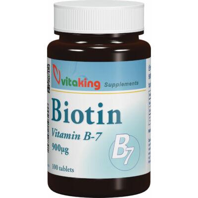 VITAKING Biotin B7-Vitamin Tabletta 100 db