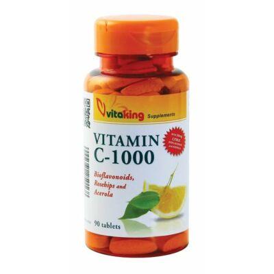 VITAKING C-vitamin 1000 mg Bioflavonoid Tabletta 90 db